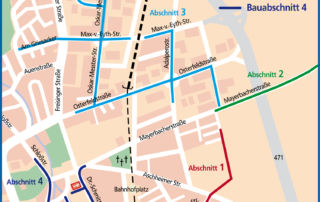 Über sieben Kilometer in vier Baulosen - der Ausbauplan für 2012